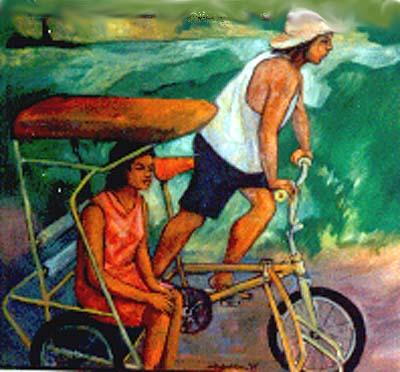 cabalfin_painting__trisikad - Ang traysikad, bow! - Philippine Photo Gallery